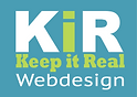KIR Logo rectangle with blue background white and green text