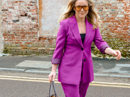 Purple Suit of Sunshine #OOTD