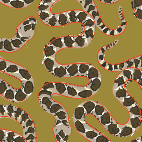 Snake Print Lockdown Illustration Challenge.