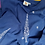 Thumbnail: Pansukh Chikankari Broad Neck Indigo Panelled Tunic With Pockets