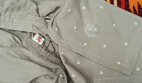 Karandin Chikankari Embroidered Slim Fit Pants