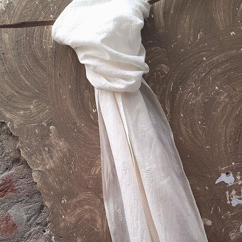 Shallaki Chikankari Cotton Stole