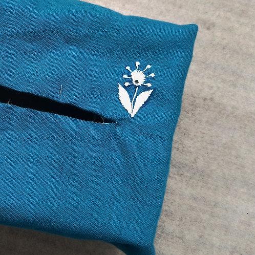 Bijli Chikankari Cotton Tissue Box Cover