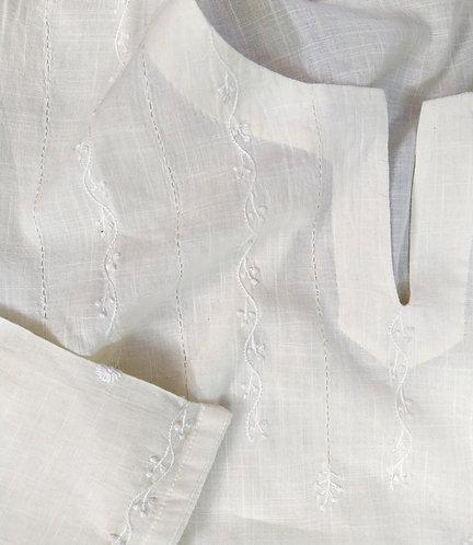 Fanoos White Chikankari A-Line Tunic