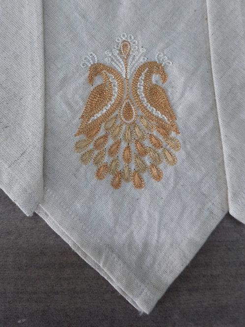 Behrunda Ariwork Embroidered Cotton Dinner Napkins Set Of 4