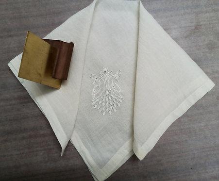 Chikankari Bherunda Embroidered Cotton Handkerchief