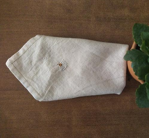 Phalsa Chikankari Embroidered Cotton Dinner Napkins Set Of 4