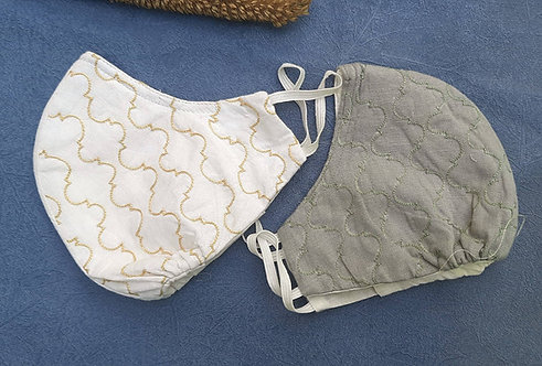 Saisa- Ariwork 4 Multi Textile Layered Face Cover Set of 2