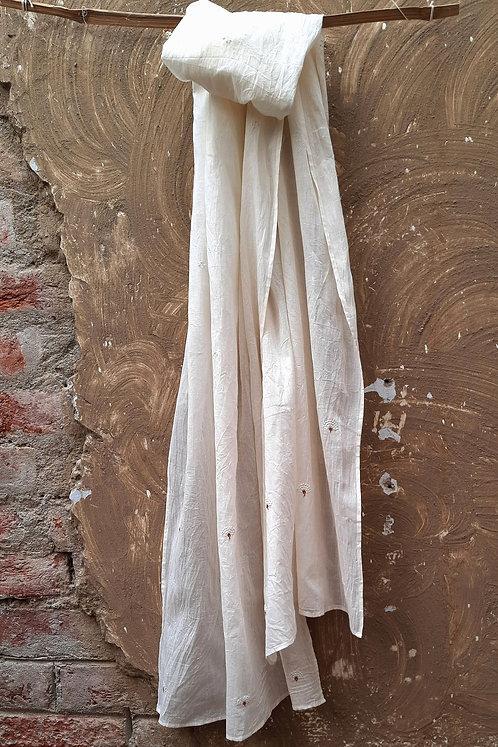 Phalsa Chikankari Cotton Stole
