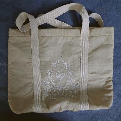 Turanj Chikankari Tote Bag