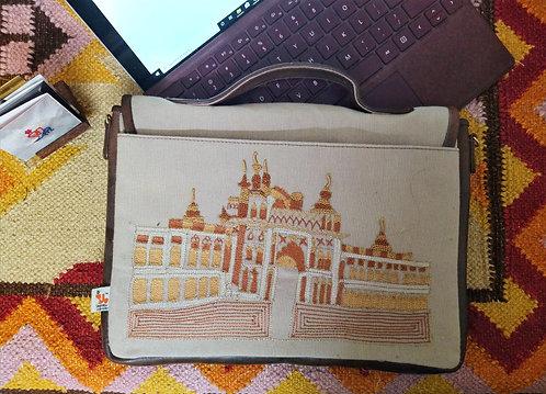Lakhi Zardosi Embroidered Laptop Bag
