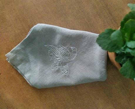 Vach Chikankari Embroidered Cotton Dinner Napkins Set Of 4