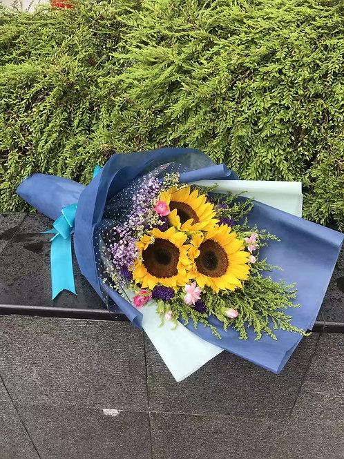 3 sunflower bouquet
