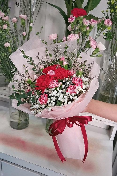 3 carnation bouquet