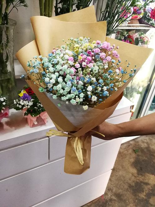 mix colour babybreath bouquet
