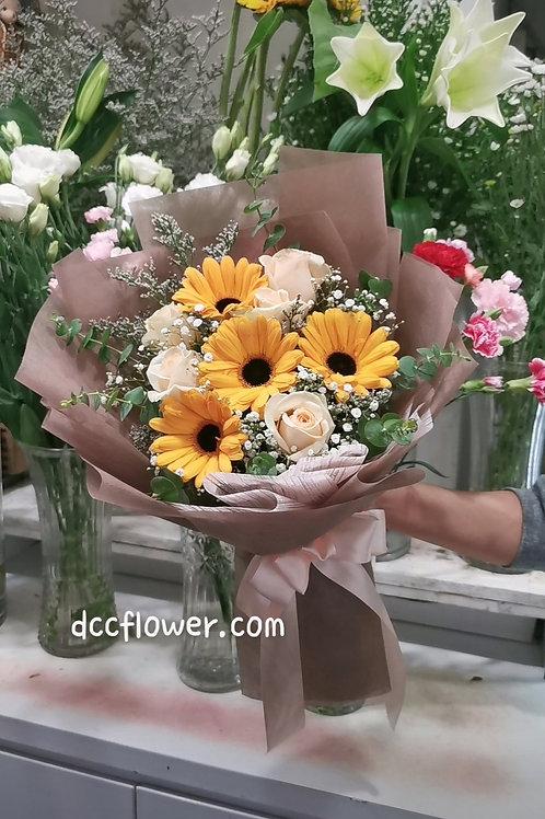 Rose and gerbera bouquet