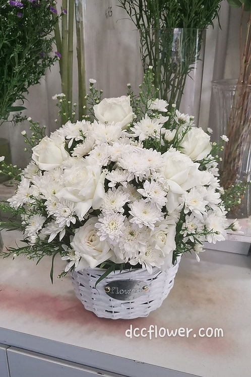 Condolence Flower Basket