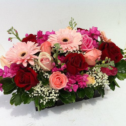 Rose & gerbera table arrangement