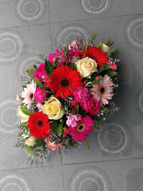 Gerbera & rose table arrangement