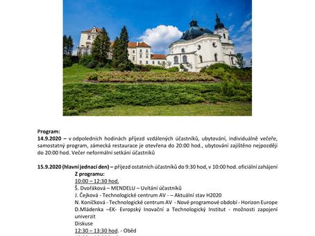 """Incubator of international projects"" in Křtiny (CZ) - workshop"
