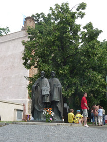 statue of Sts. Cyril and Methodius.JPG