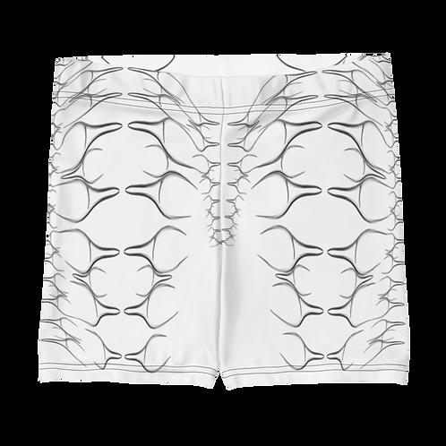 AUROBOROS PRINTED SHORTS WHITE