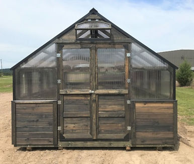 double dutch doors on greenhouse