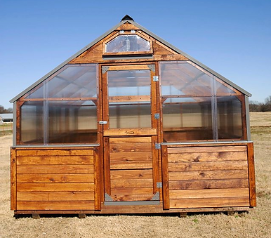 single dutch door on greenhouse
