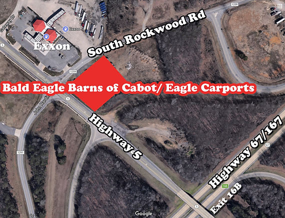 Map t Bald Eagle Barns of Cabot