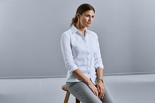Russell Collection Ladies' Long Sleeve Tailored Coolmax� Shirt