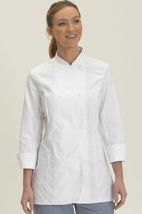 Dennys Ladies' Long Sleeve Fitted Chef's Jacket