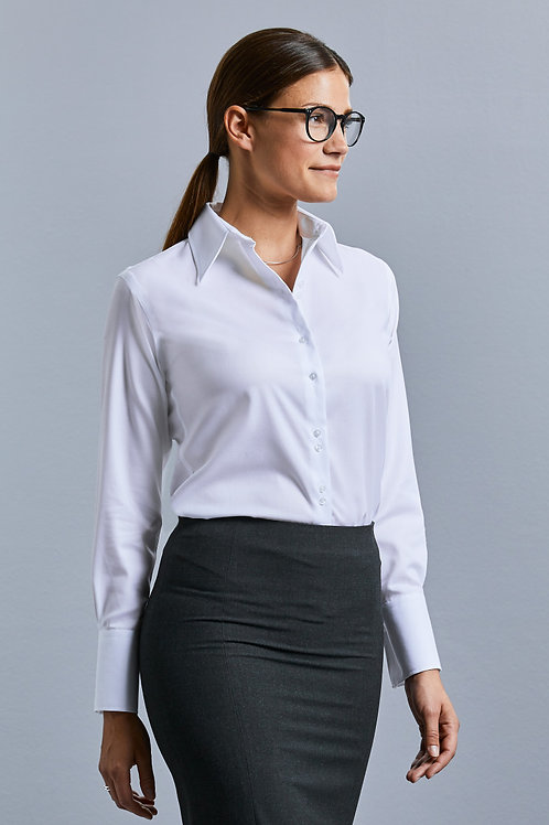 Russell Collection Ladies' Long Sleeve Ultimate Non-Iron Shirt