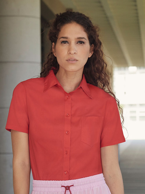 Fruit Of The Loom Ladies' Short Sleeve Poplin Shirt