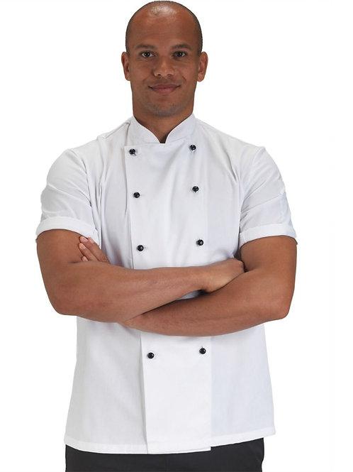 Dennys Removable Stud Short Sleeve Chef's Jacket