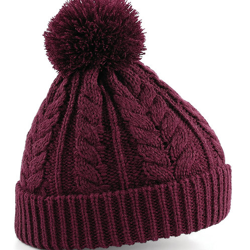 Beechfield  Cable Knit Snowstar� Beanie
