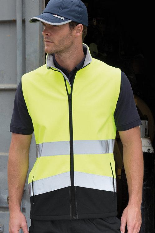 Result Safeguard Printable Safety Softshell Gilet