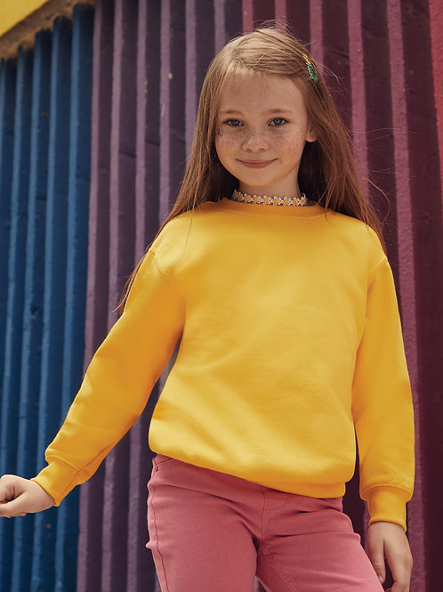 Fruit Of The Loom Kid's Classic Set-In Sweat