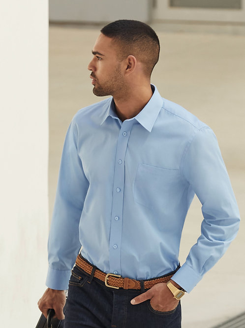 Fruit Of The Loom Men's Long Sleeve Poplin Shirt