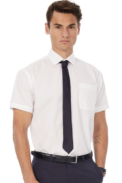 B&C Men's Smart Short Sleeve Poplin Shirt