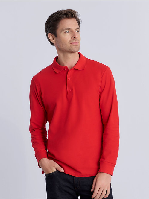 Gildan Premium Cotton� Adult Long Sleeve Double Piqu� Polo