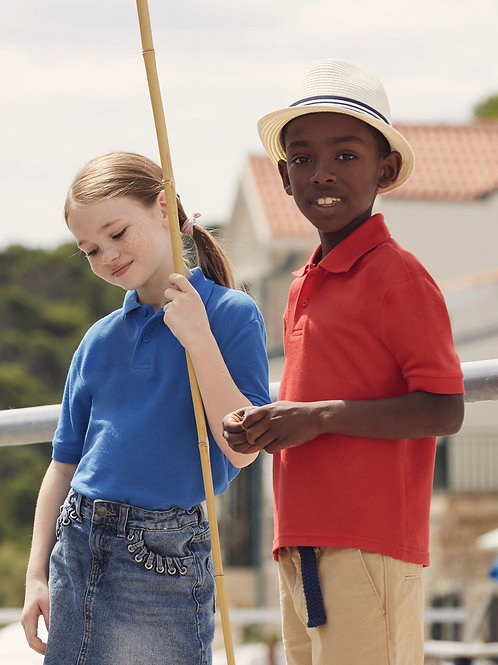 Fruit Of The Loom Kid's 65/35 Polo