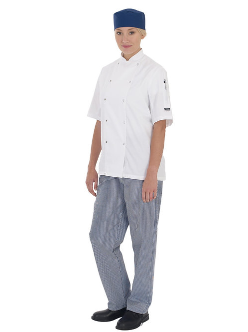 Dennys Unisex Elasticated Check Chefs Trouser