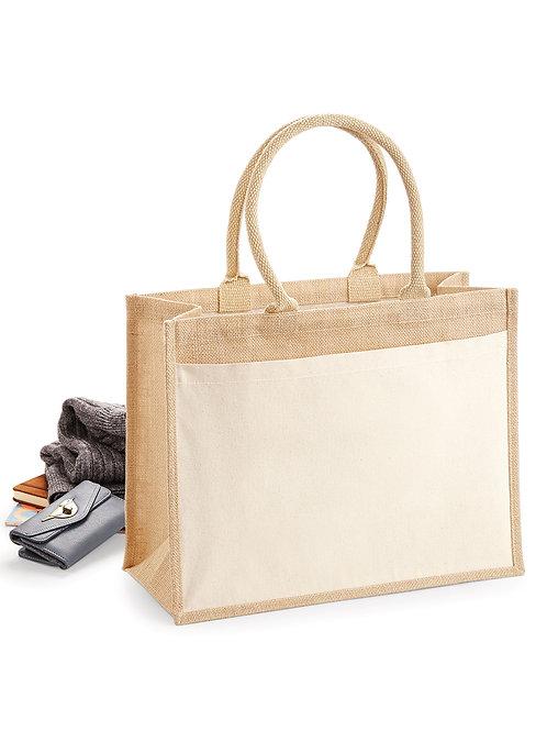 Westford Mill Cotton Pocket Jute Shopper