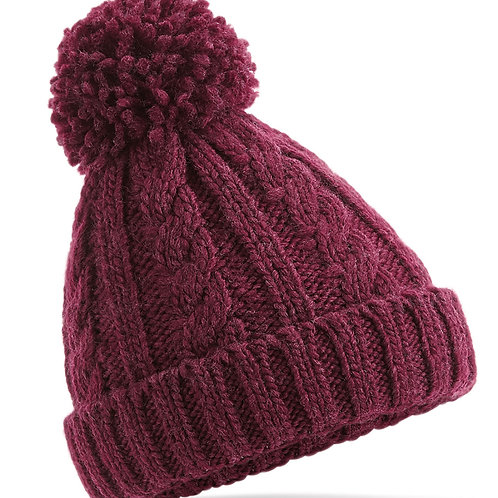 Beechfield  Junior Cable Knit Melange Beanie