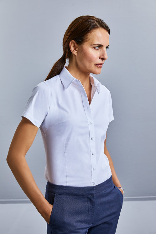 Russell Collection Ladies' Short Sleeve Tailored Coolmax� Shirt