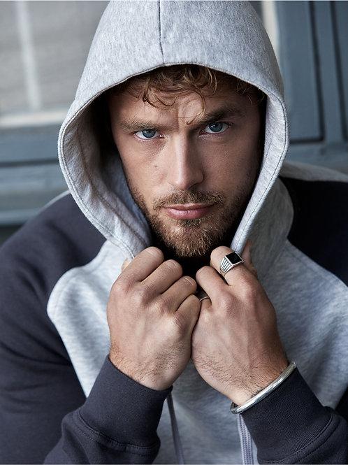 Tee Jays Men's Two-Tone Hooded Sweatshirt