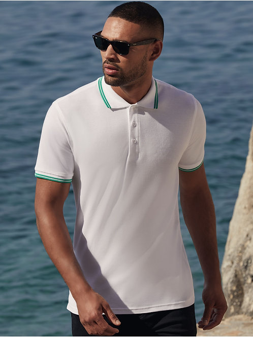 Fruit Of The Loom Men's Premium Tipped Polo