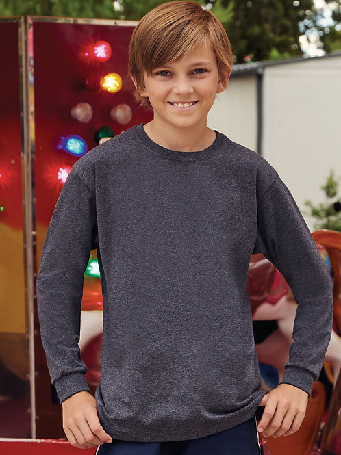 Fruit Of The Loom Kid's Valueweight Long Sleeve T-Shirt
