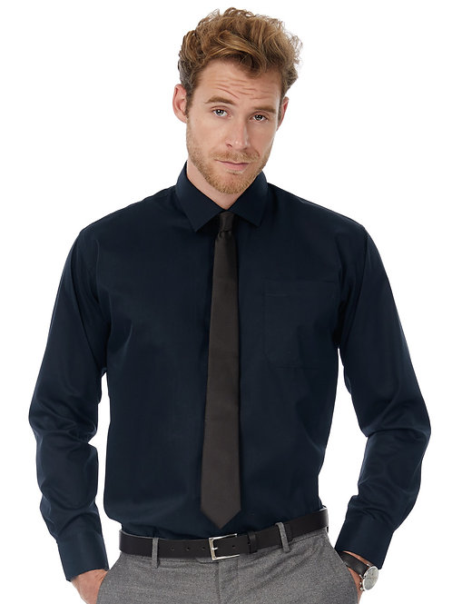 B&C Men's Sharp Long Sleeve Twill Shirt