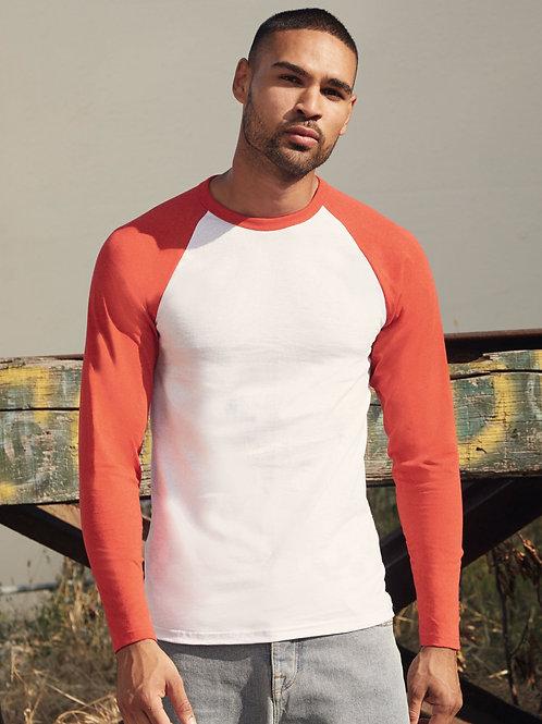 Fruit Of The Loom Men's Valueweight Long Sleeve Baseball T-Shirt